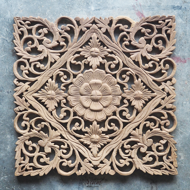 Delightful Carved Wood Wall Art Sculpture