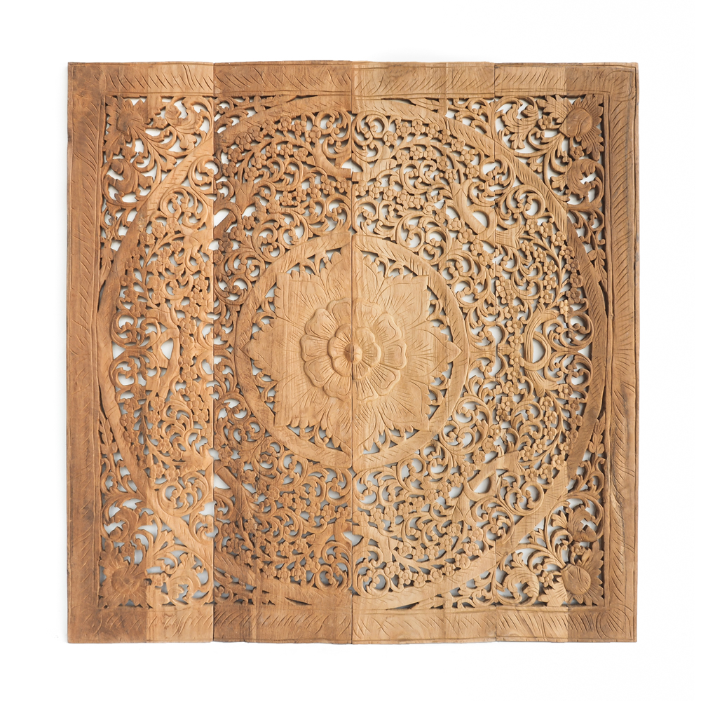 Single Wood Panel ~ Buy contemporary wood carving single double bed panel online