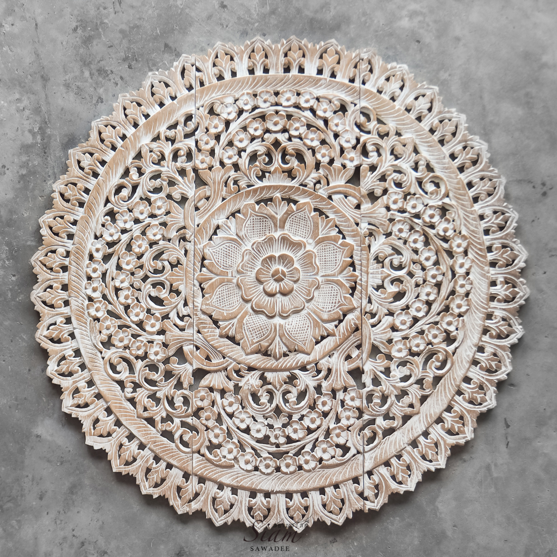 Buy Mandala Wood Carving Wall Panel Decor Mandala Wall Decor Online