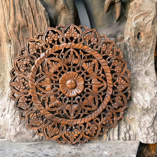 wall art wood hanging 600x600 - Moroccan Inspired Circular Panel Home Decor