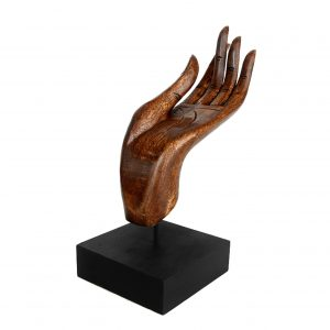 Buddha Mudra Hand Sculpture Wooden Hand Carved from Thailand Varada Mudra Gesture of Charity Light Oak 300x300 - Home
