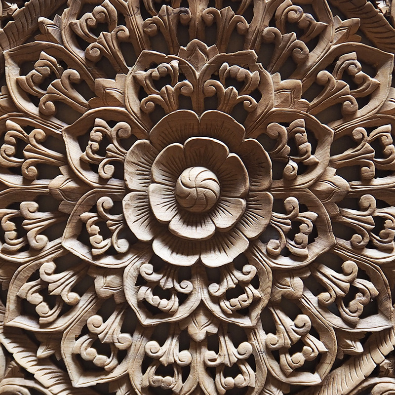 Buy balinese hand carved wood wall art panel online