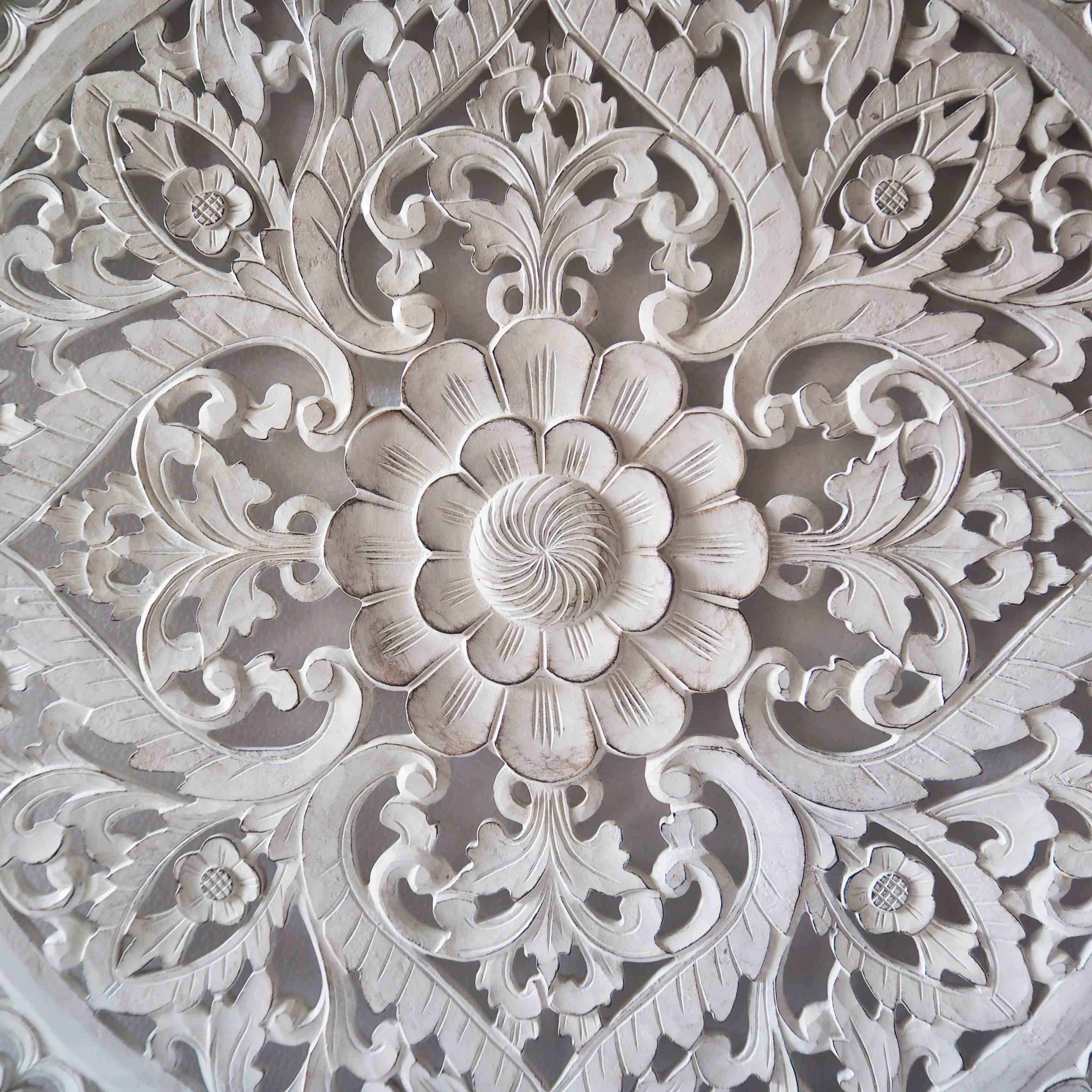 Balinese hand carved mdf decorative panel siam sawadee - Decorative wall scones ...