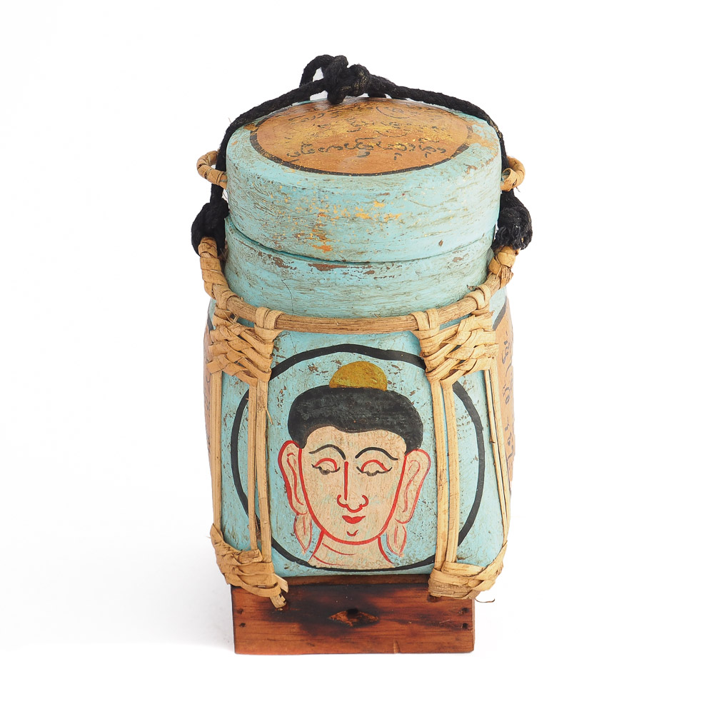 Thai rice box 160 - Buddha Rice Containing Basket With Blessing