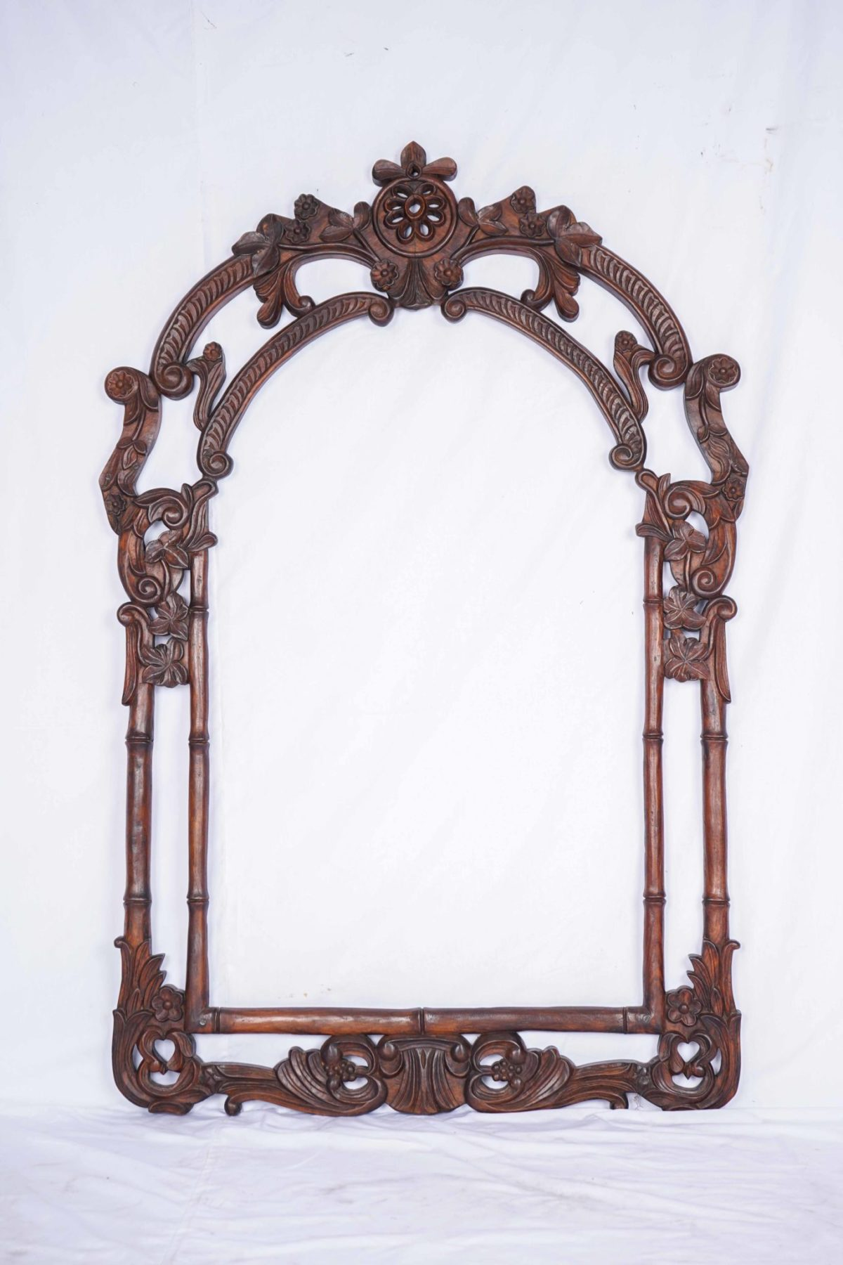 Window Wooden Frame Hand Carved by Hands from India
