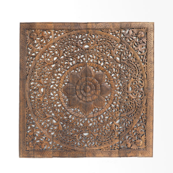 Floral Wooden Mounted Panel Rustic Furntiure